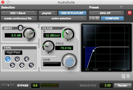 75Hz-High-Pass-Filter